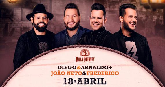 Duplas João Neto & Frederico e Diego & Arnaldo bombarão a noite no Villa Country Eventos BaresSP 570x300 imagem