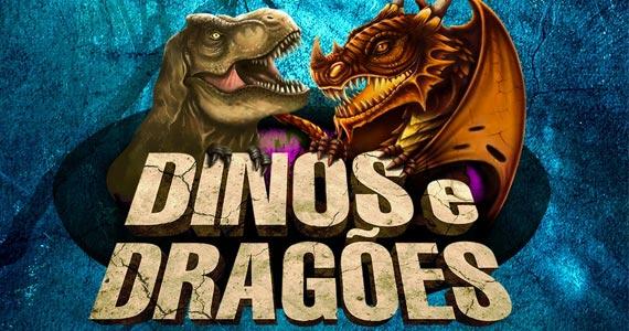 Dinos e Dragões - O Grande Combate chega a São Paulo no Shopping Eldorado Eventos BaresSP 570x300 imagem
