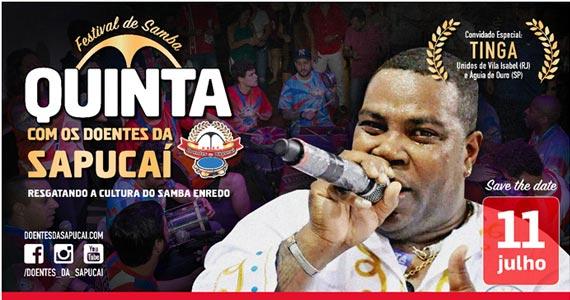 Doentes da Sapucaí convida Tinga para o festival de samba Eventos BaresSP 570x300 imagem