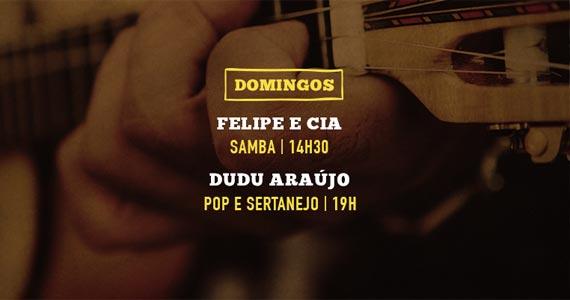 Batuque de Felipe e Cia anima o domingo na Companhia da Cerveja com Dudu Araújo Eventos BaresSP 570x300 imagem