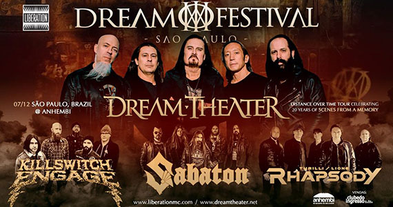 Dream Festival reúne Dream Theater e convidados na Arena Anhembi