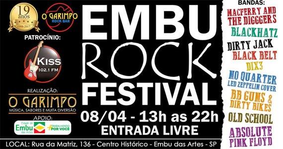O Garimpo recebe o Embu Rock Festival 2017 com bandas convidadas para animar o sábado Eventos BaresSP 570x300 imagem