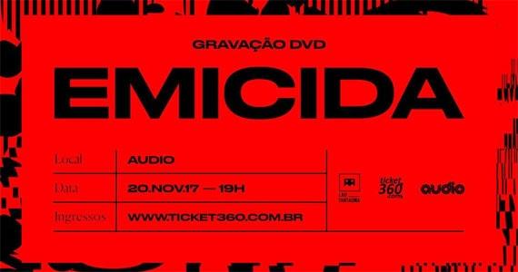 Audio recebe a gravação do primeiro DVD oficial do rapper Emicida Eventos BaresSP 570x300 imagem