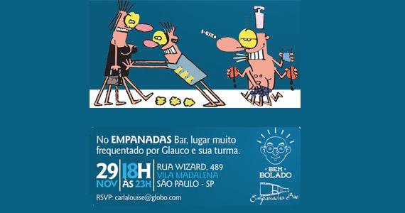 Terça acontece o lançamento da seda com tirinhas do cartunista Glauco no Empanadas Bar Eventos BaresSP 570x300 imagem