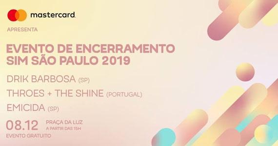 Emicida, Drik Barbosa e Throes + The Shine encerram SIM São Paulo Eventos BaresSP 570x300 imagem