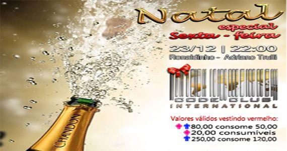 Noite Especial de Natal com os Djs Ronaldinho e Adriano Trulli no Code Club Eventos BaresSP 570x300 imagem