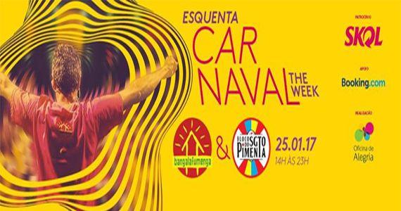 Esquenta para o Carnaval com os blocos Bangalafumenga e Sargento Pimenta na The Week Eventos BaresSP 570x300 imagem