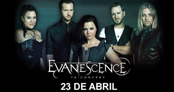 A banda de rock Evanescence volta ao palco do Espaço das Américas dia 23 de abril Eventos BaresSP 570x300 imagem