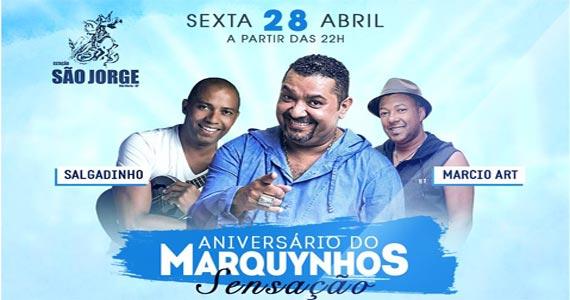 Estação São jorge recebe a comemoração de aniversário de Marquynhos Sensação com show de convidados  Eventos BaresSP 570x300 imagem