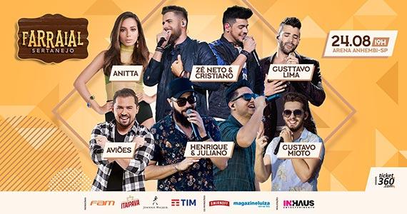 Farraial 2019 reúne Anitta, Gusttavo Lima, Gustavo Mioto, Xand Avião e mais Eventos BaresSP 570x300 imagem