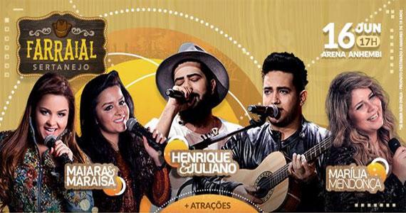 Arena Anhembi recebe Farraial Sertanejo com Maiara e Maraisa, Henrique e Juliano e mais Eventos BaresSP 570x300 imagem