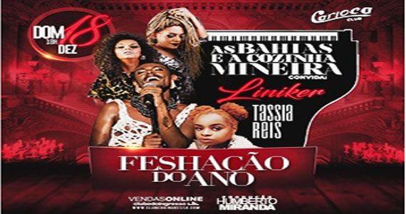 As Bahias e Cozinha Mineira convida Liniker e Tassia Reis para o Carioca Club Eventos BaresSP 570x300 imagem