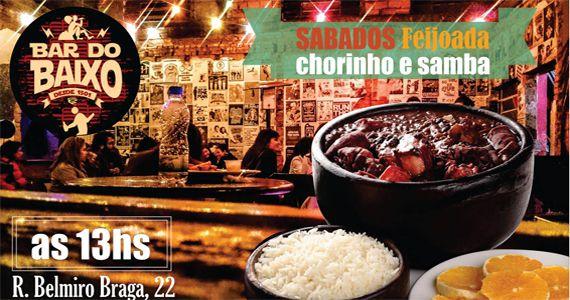 Todo sábado é dia de saborear feijoada com samba no Bar do Baixo com muito samba Eventos BaresSP 570x300 imagem