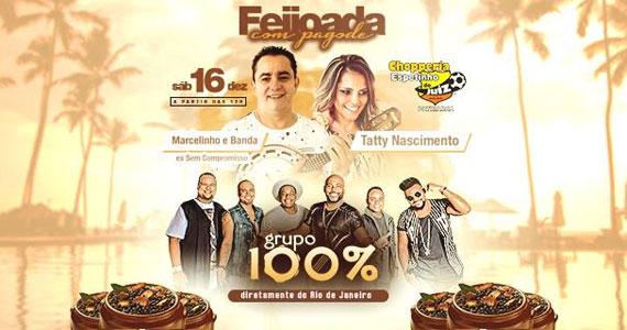 Feijoada com Tatty Nascimento, Grupo 100 % e Marcelinho ex Sem Compromisso no Bar do Juiz  Eventos BaresSP 570x300 imagem