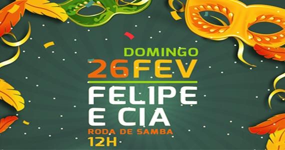 Roda de Samba com o batuque de Felipe e cia animando o carnaval 2017 da Companhia da Cerveja Eventos BaresSP 570x300 imagem