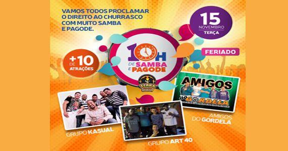 Grupo Kasual, Grupo Art 40, Amigos do Gordela e outras atrações embalam a maratona de samba e pagode no Terra Country Eventos BaresSP 570x300 imagem