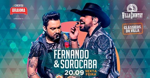 Fernando & Sorocaba voltam ao Villa Country com novo show Eventos BaresSP 570x300 imagem