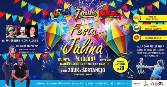 Festa Julina com zouk anima o Carioca Club Eventos BaresSP 570x300 imagem