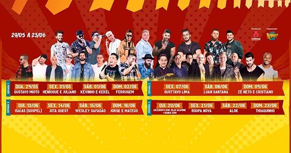 Festa Junina de Vorantim reúne grandes artistas em 20 dias de festa Eventos BaresSP 570x300 imagem