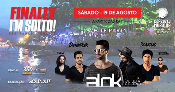 """Reabertura do Café de la Musique Beach com o top DJ ALOK na Festa """"Finally I´M Solto""""  Eventos BaresSP 570x300 imagem"""