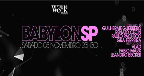 Venha dançar e se divertir na pista Babylon da The Week  Eventos BaresSP 570x300 imagem
