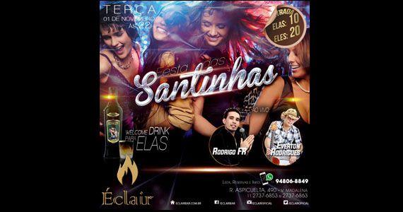 Véspera de feriado tem Festa das Santinhas com samba e sertanejo no Éclair Bar Eventos BaresSP 570x300 imagem