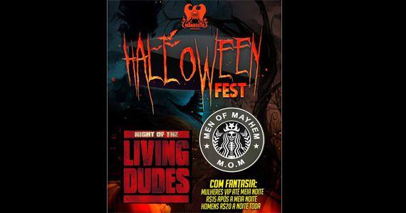 Sexta-feira tem Halloween Fest + Rolandia's Party – M.O.M e Living Dudes no Manifesto Rock Bar Eventos BaresSP 570x300 imagem