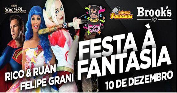 Festa a Fantasia com Rico & Ruan e Felipe Grani na Brooks SP Eventos BaresSP 570x300 imagem