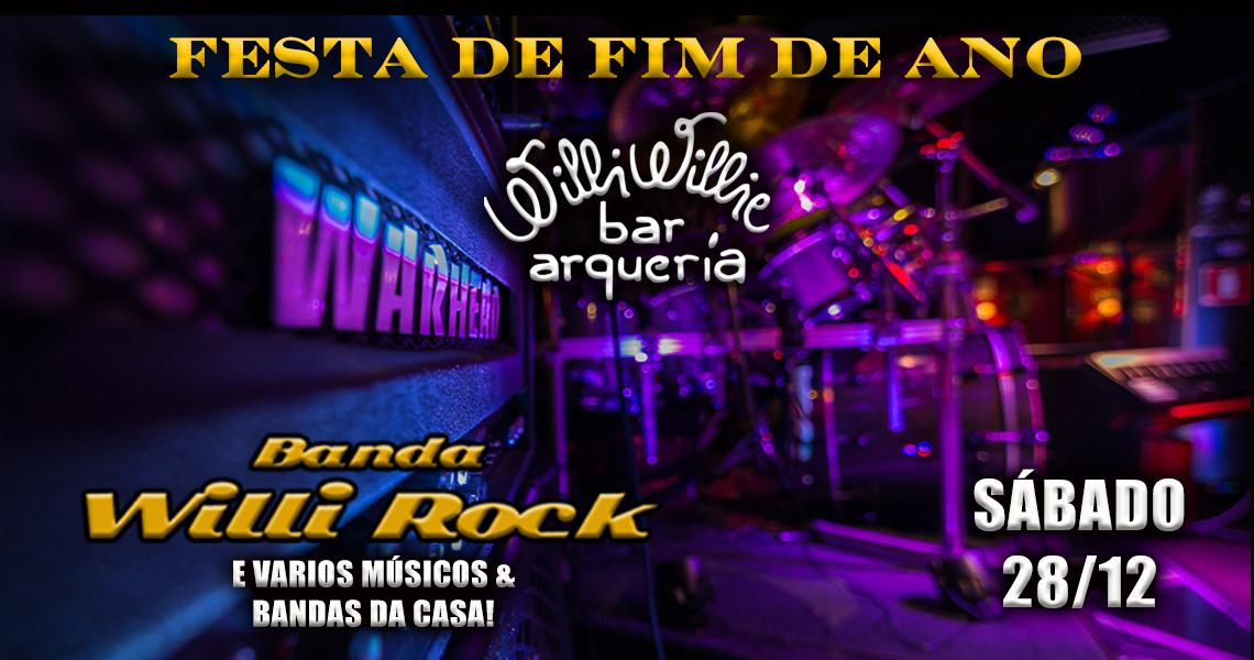 Programação - Festa de Fim de Ano com a Banda Willi Rock (Classic Rock)