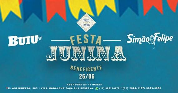Boteco Todos os Santos realiza Trabalho Social em Festa Junina Beneficente Eventos BaresSP 570x300 imagem
