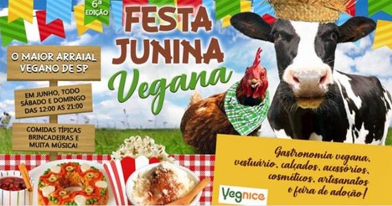 Vegnice promove 6° edição de sua tradicional Festa Junina Vegana Eventos BaresSP 570x300 imagem