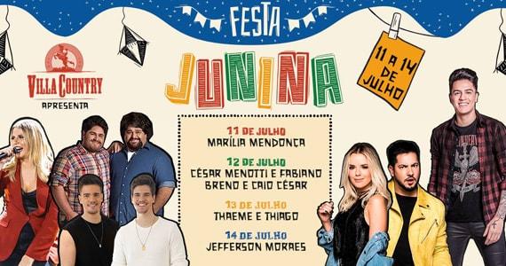 Festa Junina no Villa Country traz Marília Mendonça, César Menotti e Fabiano e feras do sertanejo Eventos BaresSP 570x300 imagem