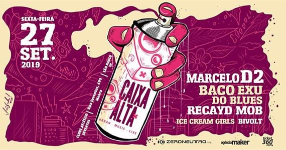 Marcelo D2 e Bacu Exu do Blues são atrações do Festival Caixa Alta Eventos BaresSP 570x300 imagem