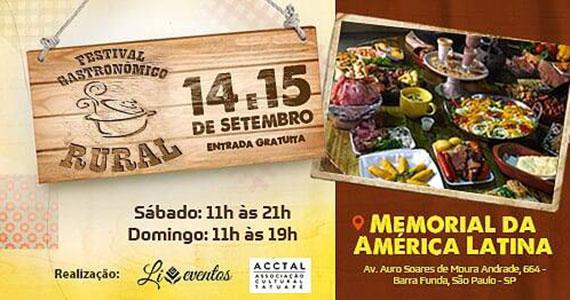 Festival Gastronômico Rural reúne comidas típicas do interior no Memorial Eventos BaresSP 570x300 imagem