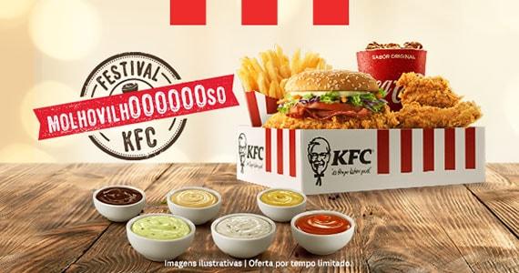 KFC apresenta o Festival Molhovilhoso com seis molhos imperdíveis Eventos BaresSP 570x300 imagem