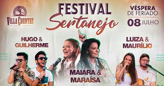 Festival Sertanejo agita véspera de feriado na Villa Country Eventos BaresSP 570x300 imagem