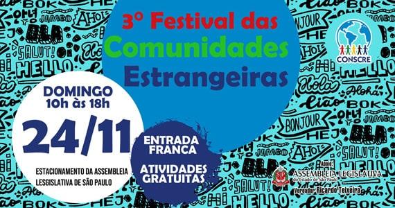 III Festival das Comunidades Estrangeiras acontece em Novembro Eventos BaresSP 570x300 imagem