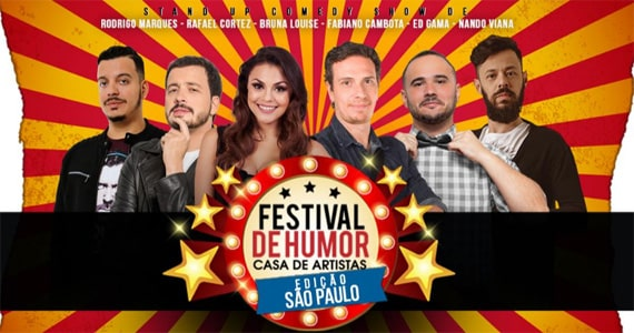 Festival de Humor reúne Rafael Cortez, Fabiano Cambota, Rodrigo Marques e outros artistas no Theatro Net Eventos BaresSP 570x300 imagem