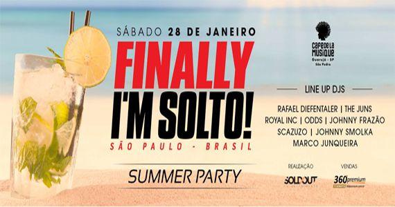 Finally I´m Solto! - Summer Party com o duos Royal Inc. e The Juns no Café de la Musique Beach Club Eventos BaresSP 570x300 imagem