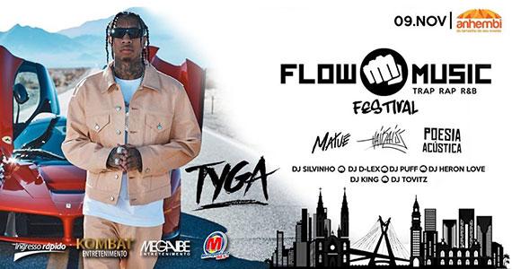 Tyga, Haikaiss e mais no Flow Music Festival Eventos BaresSP 570x300 imagem