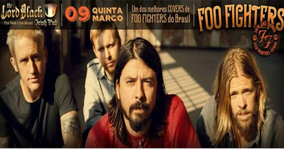 A banda Skin And Bones toca os maiores sucessos do Foo Fighters no The Lord Black Eventos BaresSP 570x300 imagem