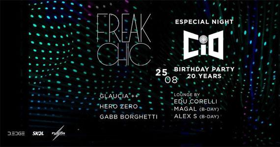 Festa Freak Chic embala a noite com aniversário de 20 anos da CIO na D Edge Eventos BaresSP 570x300 imagem