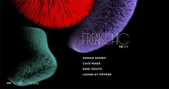 Sexta-feira acontece a festa Freakchic com os Djs  Adnan Sharif, Caio Magá, Dani Souto e Voyage na D-Edge Eventos BaresSP 570x300 imagem