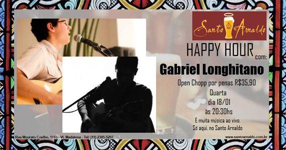 Quarta-feira com muito pop e rock de Gabriel Longhitano no Bar Santo Arnaldo Eventos BaresSP 570x300 imagem