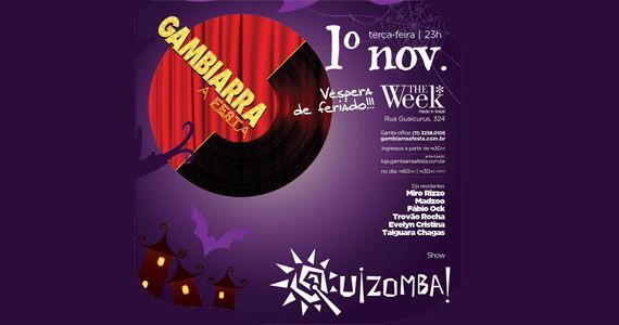 Vépera de feriado tem Gambiarra a Festa na The Week com o show Guizomba Eventos BaresSP 570x300 imagem