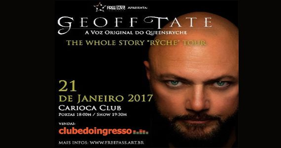 SHOW ADIADO! Geoff Tate vocalista original e principal compositor do Queensryche faz única apresentação no Carioca Club Eventos BaresSP 570x300 imagem