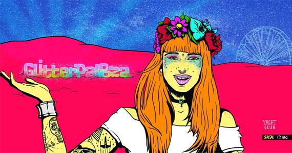 Sexta-feira acontece a Noite Glitterpalooza animando a véspera do Lollapalooza no Club Yatch Eventos BaresSP 570x300 imagem