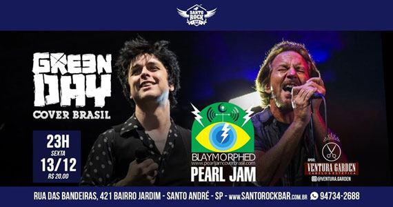 Pearl Jam e Green Day Cover agitam noite no Santo Rock Bar