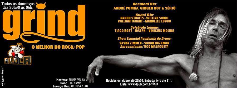 Grind - A Domingueira mais alternativa com o melhor do rock e pop no Clube A Lôca Eventos BaresSP 570x300 imagem