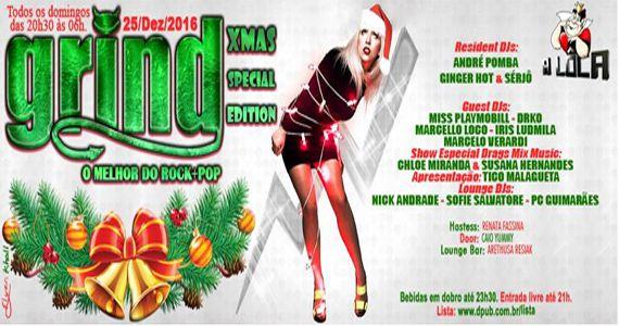 Grind - A Domingueira mais alternativa Especial de Natal no A Lôca Eventos BaresSP 570x300 imagem